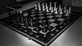 échecs de panneau en bois photo stock