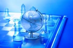 Échecs de stratégie commerciale du monde Photos stock
