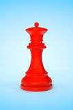 Échecs en bois rouges de la Reine Image stock