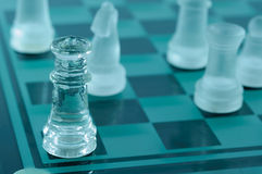 Échecs en cristal Photos stock
