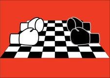 échecs et boxe Photographie stock libre de droits