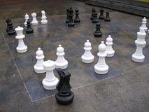 Échecs géants Photos stock