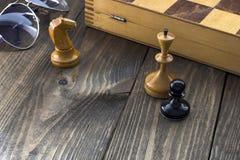 Échecs sur la table Image libre de droits