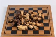 Échecs, un jeu stratégique de la conquête Images libres de droits