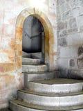 Échelle à Golgotha dans le temple de Coffin du seigneur Photographie stock libre de droits
