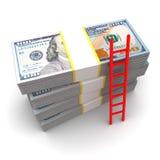 échelle à l'argent Photos libres de droits