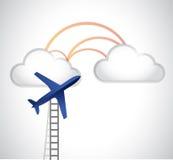 échelle à la conception d'illustration de nuages Image stock