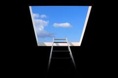 Échelle au ciel image libre de droits