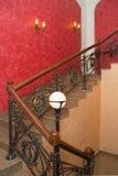 Échelle avec des balustrades Photo stock