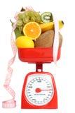 Échelle avec des fruits Image stock