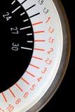 Échelle circulaire de noir, blanche et rouge Photos stock