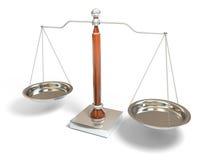 échelle d'équilibre Photographie stock libre de droits
