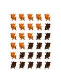 Échelle d'évaluation d'écureuil Image stock