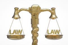 Échelle d'or de loi Image stock