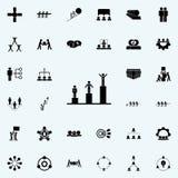 échelle d'icône de succès Ensemble universel d'icônes de travail d'équipe pour le Web et le mobile illustration stock