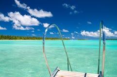 Échelle dans l'océan Photo libre de droits