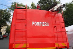 Échelle de camion de pompiers Photo stock