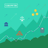Échelle de croissance d'investissement Photographie stock