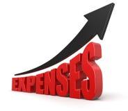 Échelle de croissance et dépenses (chemin de coupure inclus) Images stock