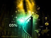 Échelle de croissance de la bourse des valeurs  Image stock