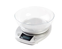 Échelle de cuisine de Digital d'isolement sur le blanc Photographie stock