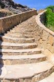 Échelle de pierre décorative sur la montagne Images libres de droits