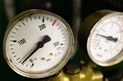 Échelle de pression atmosphérique Photo stock