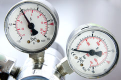 Échelle de pression atmosphérique Photographie stock