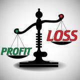Échelle de profits et pertes Images libres de droits