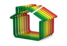 Échelle de rendement d'énergie de constructions Photographie stock libre de droits