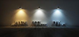 échelle de température de la couleur 3Ds Photographie stock libre de droits