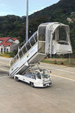Échelle des avions chez les Seychelles internationales Image stock