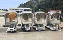 Échelle des avions chez les Seychelles internationales Image libre de droits