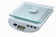 échelle digitale de cuisine Photos stock