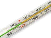 Échelle du thermomètre - 37 Photographie stock