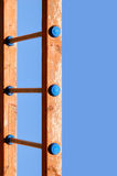 Échelle en bois Images libres de droits