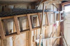 Échelle en bois Photos stock