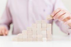 Échelle en bois de bloc Photo stock