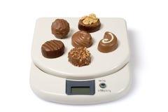 Échelle et chocolat Image libre de droits