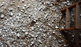 Échelle et débris (vue supérieure) photos stock