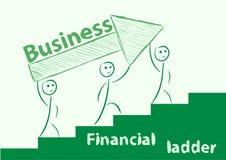 Échelle financière illustration stock