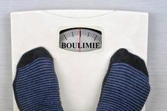Échelle indiquant la boulimie en français photos libres de droits
