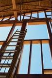 Échelle intérieure de construction Images libres de droits