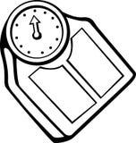 Échelle personnelle de poids de salle de bains Photographie stock libre de droits