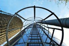 Échelle sur un silo Photographie stock libre de droits