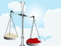 Échelles avec des coeurs Image libre de droits