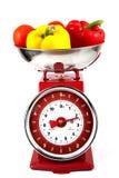 Échelles avec des légumes Image stock