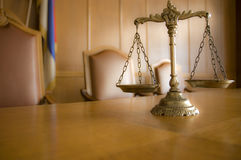 Échelles décoratives de justice Photographie stock