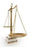 Échelles de cru de justice images stock