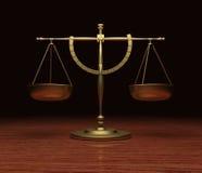 Échelles de justice illustration stock